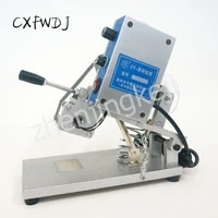 manual hand pressure production date batch number coding machine english letters to send three rows of prefixes with words
