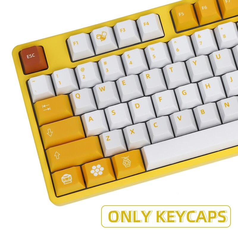 113 مفاتيح PBT قبعات صبغ الفرعية الكرز الشخصي العسل Keycap ل الكرز MX التبديل 61/87/104/108 لوحة المفاتيح الميكانيكية iso المفاتيح