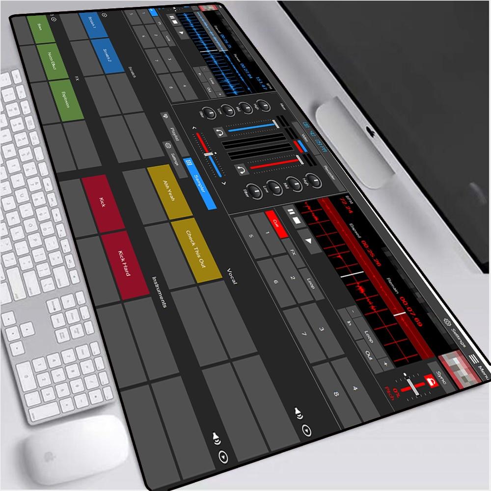 Anime Dj Recording Disk Big RGB Gaming Mouse Pad Lock Edge Internet Cafe Computer Keyboard Desk Pad  Non-Slip Comfortable Xxl enlarge