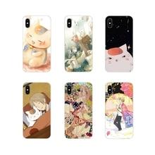 Per il iPhone di Apple X XR XS 11Pro MAX 4S 5S 5C SE 6S 7 8 Più di ipod tocco 5 6 Natsume Yuujinchou anime Giapponese Sveglio TPU Shell Casi