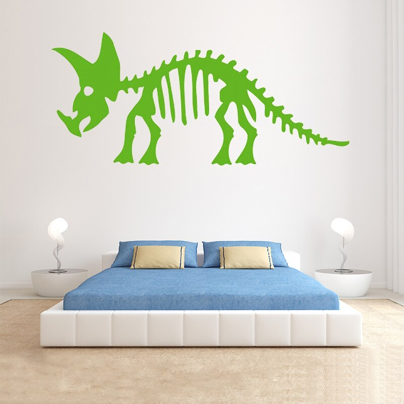 Aufkleber-Dinosaurier Jungen Zimmer-Wand-dekor Triceratops Skelett-Vinyl Flugzeug Wand Aufkleber Muster Einzel-stück Paket PVC boy11