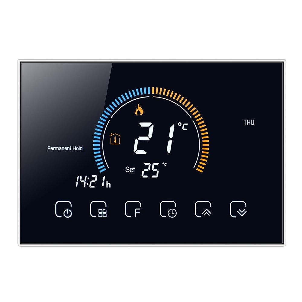 BHT-8000 منظم حراري ذكي واي فاي للبرمجة متحكم في درجة الحرارة LED المياه الغاز المرجل التدفئة الحرارية GA/GB/GC