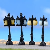 5pcs vintage street light lamp miniature fairy garden home houses decoration mini craft micro landscaping decor diy accessories
