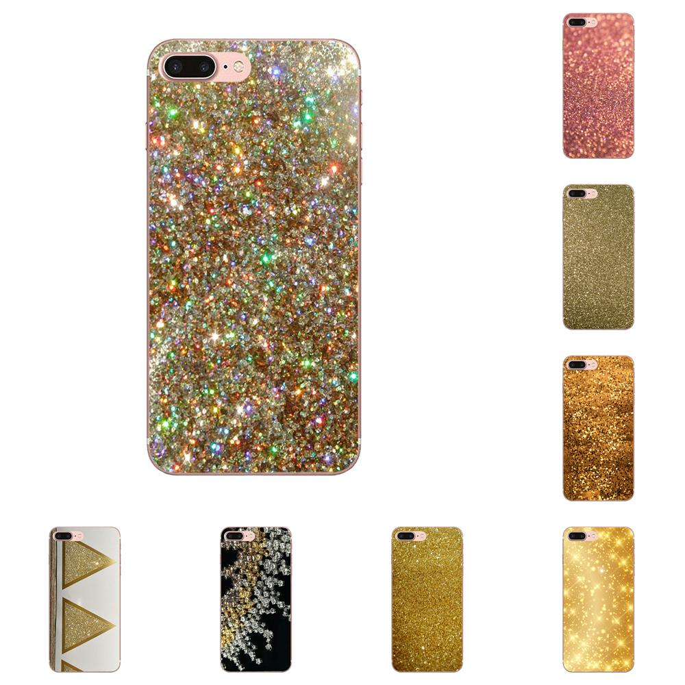 Para Samsung Galaxy Note 8 9 10 Pro S4 S5 S6 S7 S8 S9 S10 S11 S11E S20 Edge Plus funda Ultra Popular brillante dorado