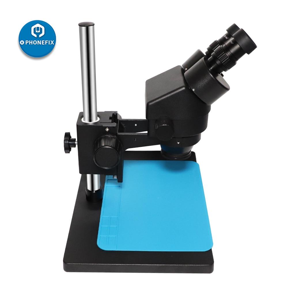 Microscopio Binocular profesional estéreo, Microscopio electrónico digital focal, WF10X/20mm, ocular, luces LED, soldadura PCB