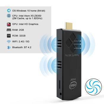 W5 pro fanless Windows10 Mini pc stick Intel Atom x5-Z8350  RAM 2GB EMMC 32GB 1000M lan office computer mini pc
