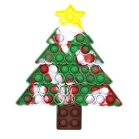rainbow christmas tree shaped decompression push bubble sensory autism relief stress toys adult children anti stress toy