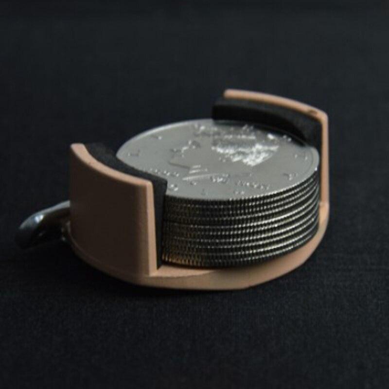 Держатель для монет/металлическая монета самосвал + 10 шт. половина доллара палминг монеты Волшебные Трюки крупным планом уличная магия иллю...