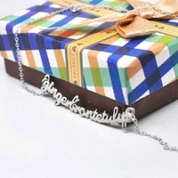 personalized solid silver long nameplate necklace custom name necklace design jewelry colar