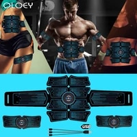 usb rechargable abdominal muscle stimulator total abs fitness equipment training gear muscles press simulator muscle home gym