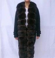 20 coat female autumn real fur collar real fur jacket fur vest fur coat natural fur knitted fox coat knitted fur needlework coat