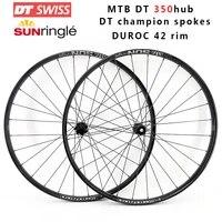 mtb dt swiss 350 wheel 12 speed sun ruroc 42 42mm width 28h 110x15mm 148x12mm 29er xc mountain bike set boost 148mm