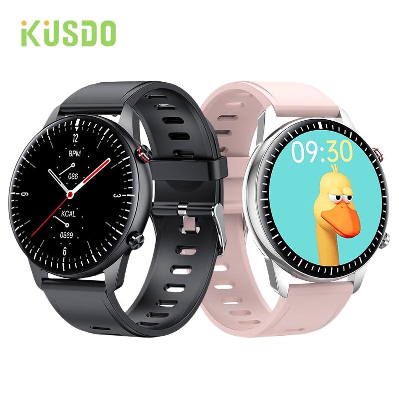 KUSDO 2021 Bluetooth Calls Smart Watch Women Men Full Touch Fitness Tracker IP67 Waterproof Smartwatch For Android Xiaomi Redmi