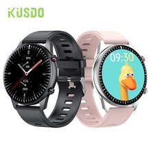 KUSDO 2021 Bluetooth Calls Smart Watch Women Men Full Touch Fitness Tracker IP67 Waterproof Smartwat