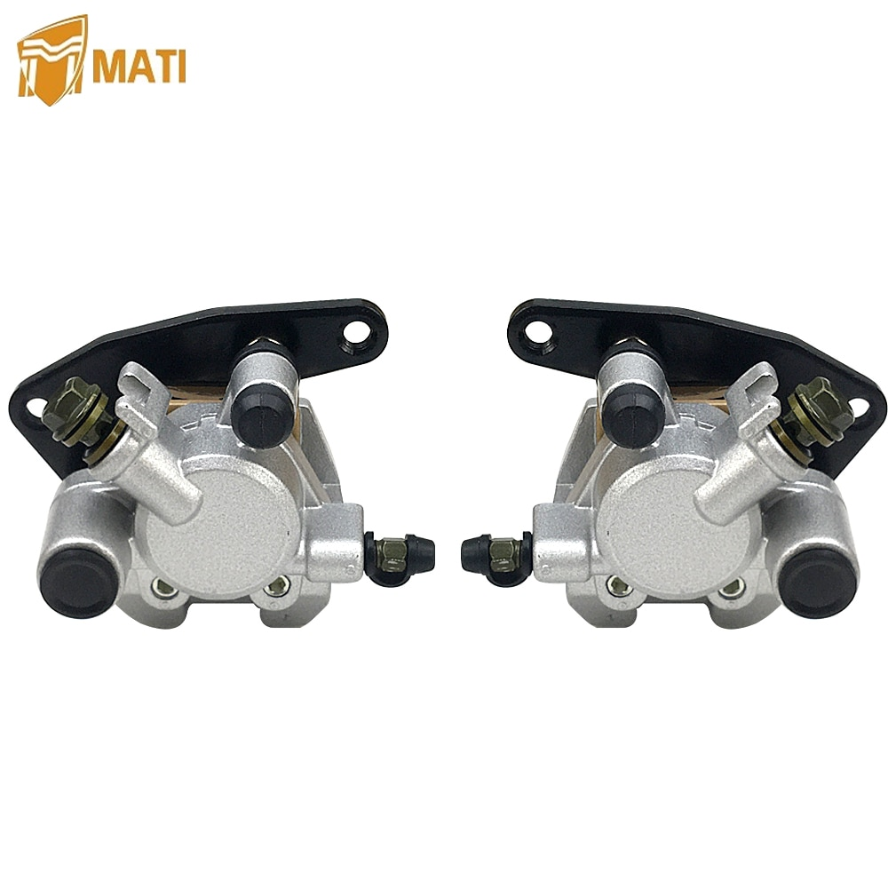 Front Brake Caliper Assembly for ATV Honda TRX250X TRX250EX TRX300EX TRX400EX TRX400X A TRX 250X 250EX 300EX 400EX AC with Pads