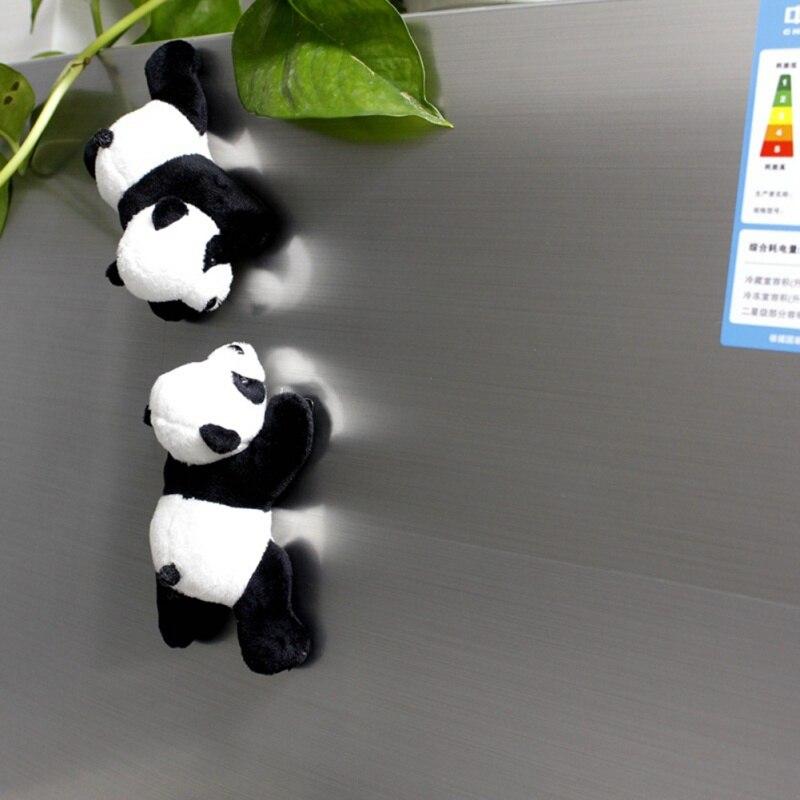 1 шт. милый мягкий плюшевый панда холодильник магнитный холодильник стикер прекрасный сувенир домашний декор