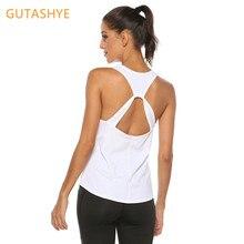 T-shirt de Sport, Sexy, dos nu, sans manches, pour femmes, séchage rapide, Fitness, Yoga, course à pied, collection débardeurs de Yoga