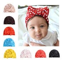 Nouveau Dot Bow bébé chapeau nouveau-né élastique infantile Turban chapeaux filles enfants enfants bonnet casquette cheveux accessoires Photo accessoires