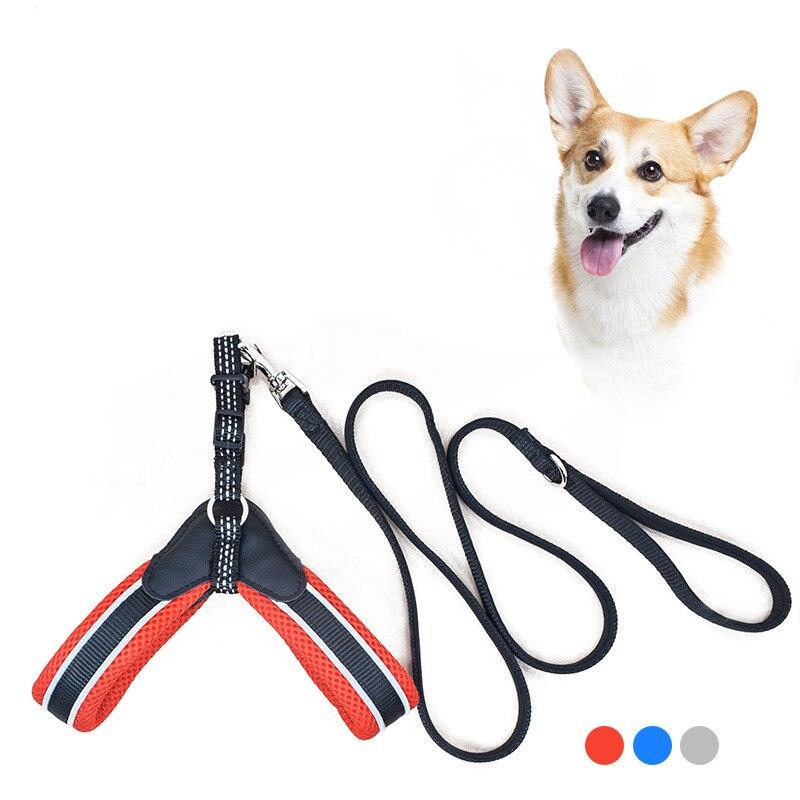 Arnés para perros de fácil comodidad, arnés de piel sintética para mascotas, arneses reflectantes para mascotas pequeñas, Chihuahua Shih tzu Bull Terrier, cinturón de seguridad para perros