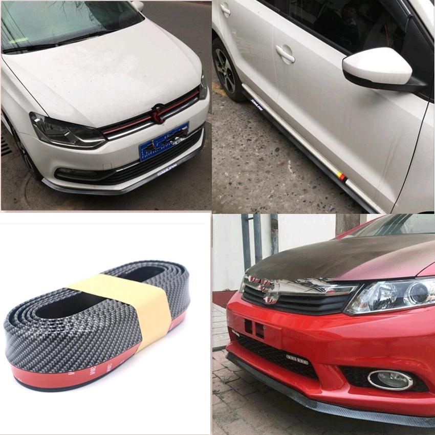 HOT Car bumper decorative protection sticker for peugeot 2008 alfa romeo 147 jaguar xf w205 volvo xc40 peugeot 208 volvo xc70