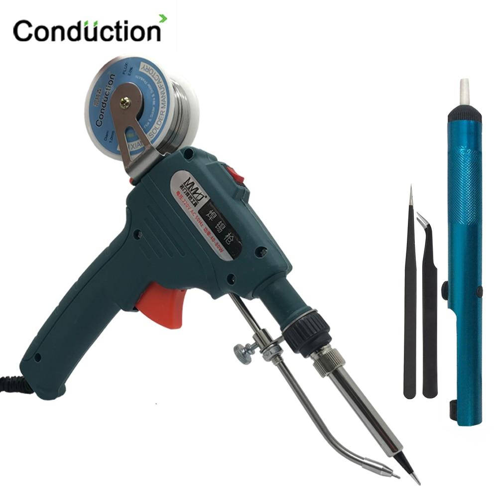 110V/220V 60W Hand-held Internal Heating Tin Electric Soldering Iron Kit Automatic Send Tin Gun Solder Repair Welding Tools