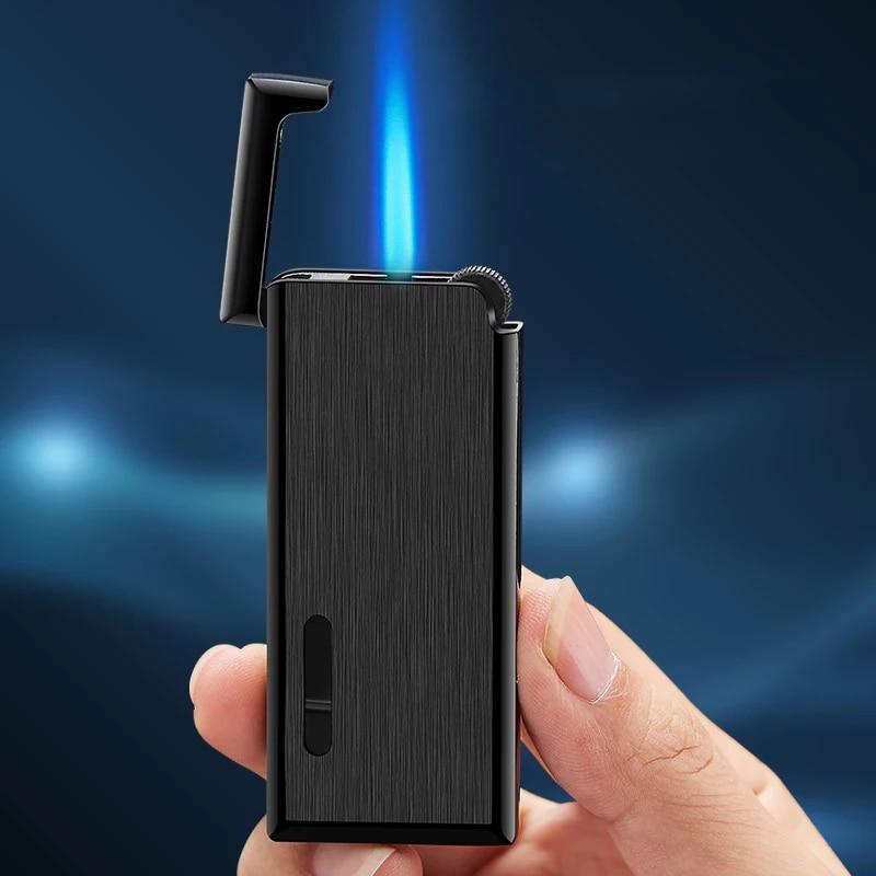 2020 New Metal Gas Lighter Turbo Lighters Smoking Accessories Butane Torch Lighter Cigar Cigarettes Lighter Gadgets For Men