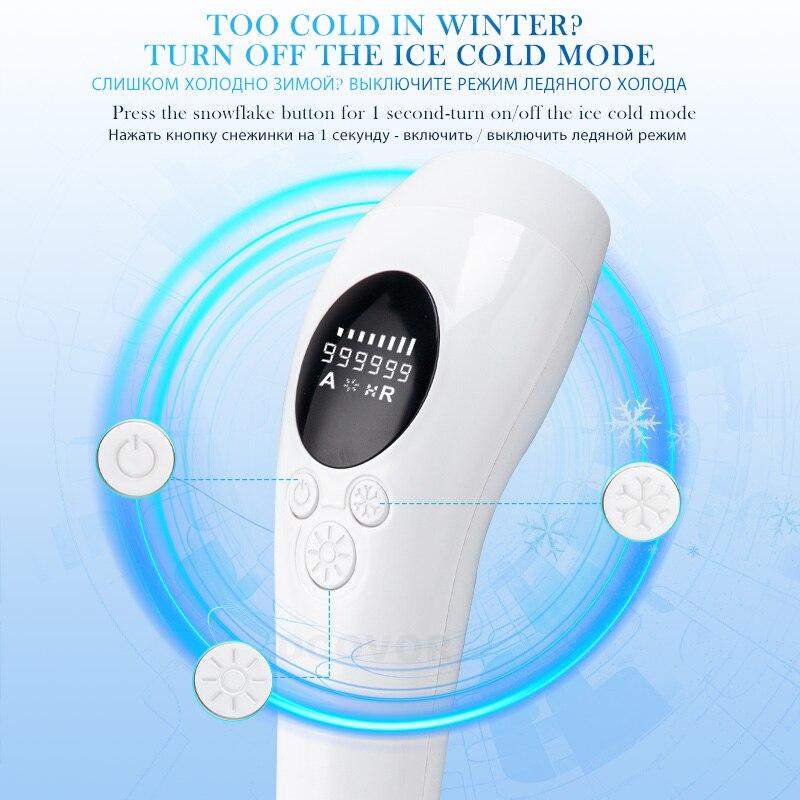 2021 New 999999 Flashes IPL Epilator Painless Ice Cooling Photoepilator Hair Removal depiladora 48W Bikini Laser Epilator enlarge