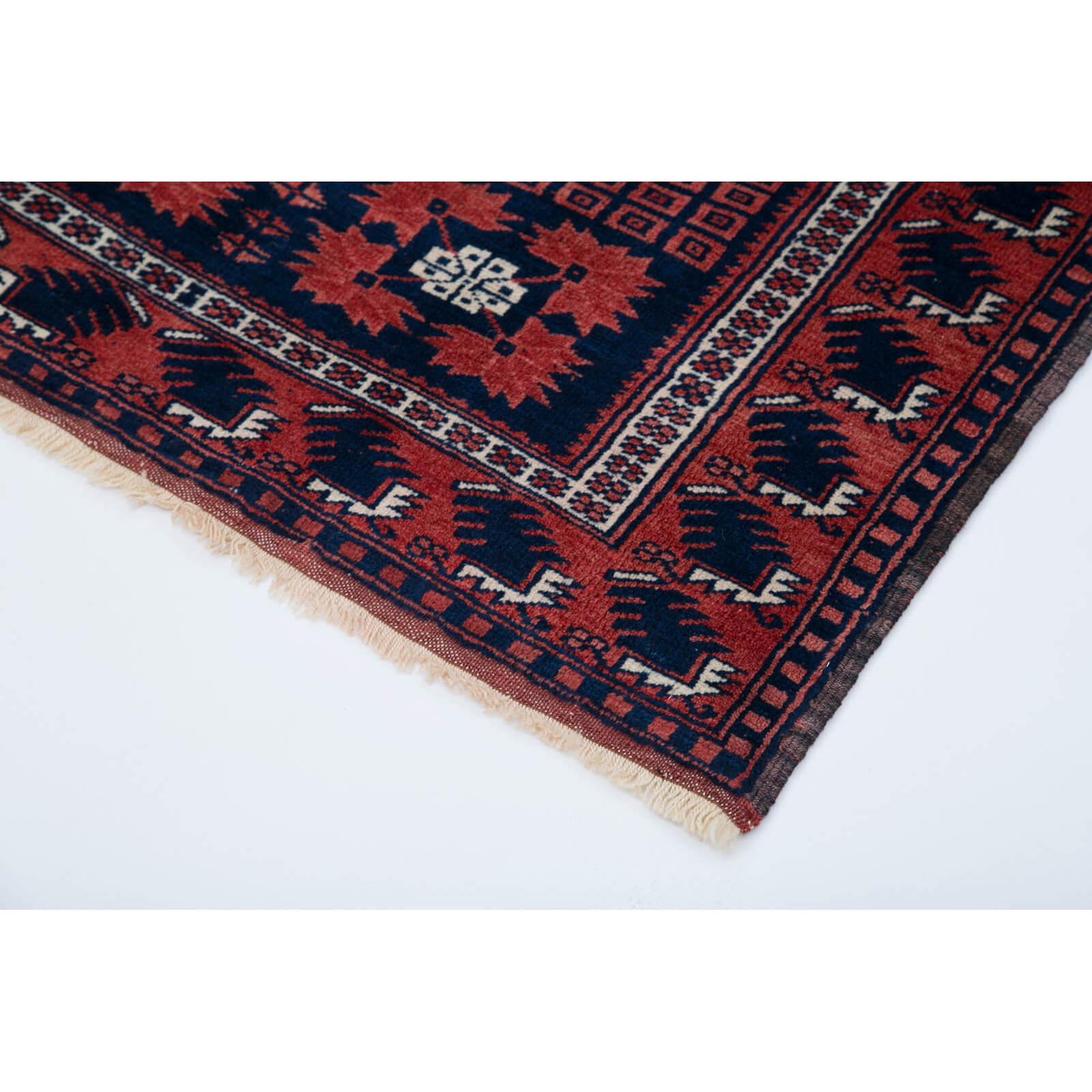 103x160 Cm Blue Handmade Anatolian Rug-3x5 Ft
