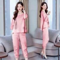womens two piece suit 2021 new summer suit loose fashion temperament plus size korean casual two piece suit woman