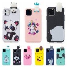 Para Coque iPhone 11 SE 2020 funda 3D Kawaii unicornio oso Panda funda de silicona para iPhone 11 Pro X XR XS Max 5 S 6 7 8 Plus funda