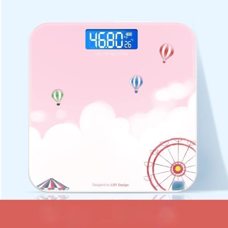 Glass Led Scale Weight  Machine Electronic Body Analyzer Small Scale Body Fat Bilancia Pesapersone Household Products DI50TZC