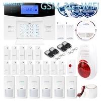 HOMSECUR     systeme dalarme domestique filaire et sans fil  wi-fi  GSM-2G SMS  autocomande  bouton de panique