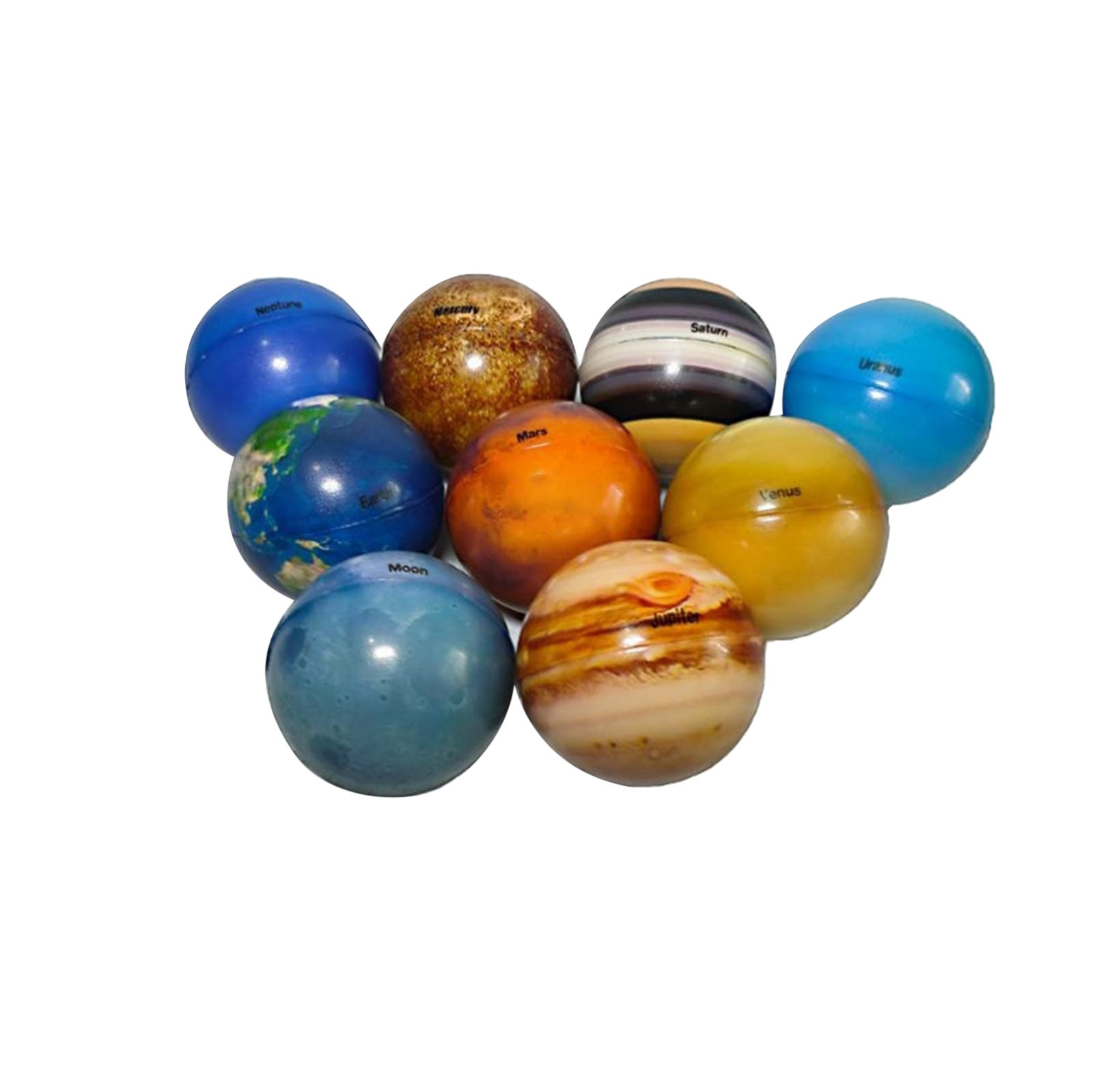 9PC Fidget Toys Bouncy Stress Ball Color Sponge Solid Soft Planetary Ball Stress Relief Toys For Children Adults Sensory Toys W* enlarge