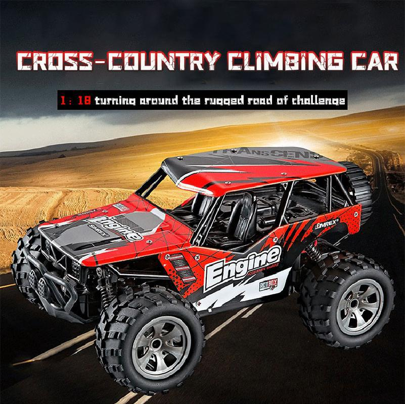 1:18 Rc Car 4wd 2.4g Radio Remote Control Car Toys For Kids High-speed Climbing Cross-country Truck Model Vehicle Children Toy enlarge
