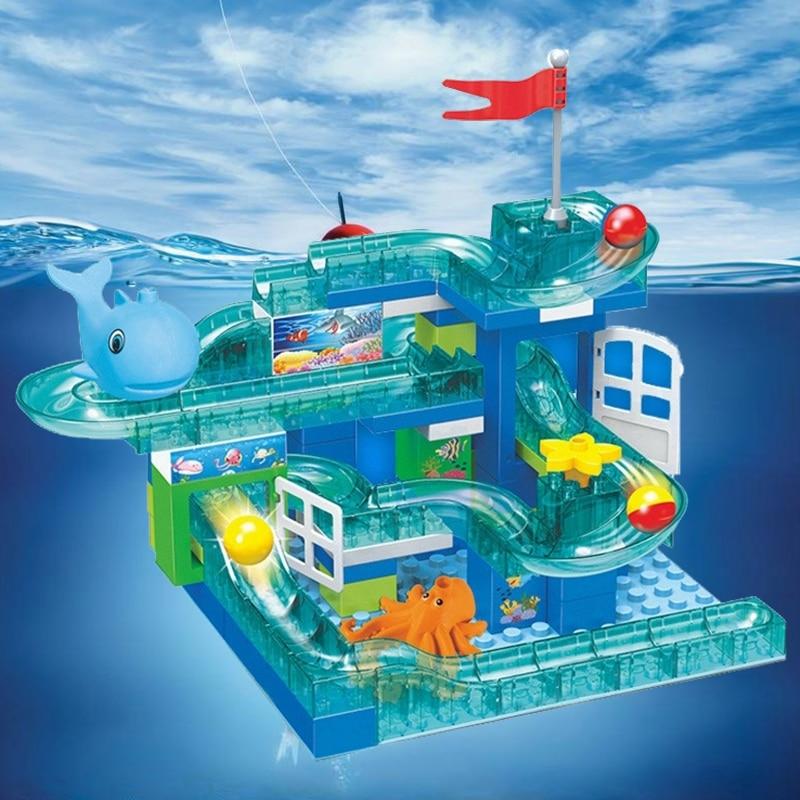 Compatible Lockings Anime Figure Movie Finding Nemo Duplo Crystal Flash Ball Slide Building Blocks Kids Girls Toys Fits Lockings