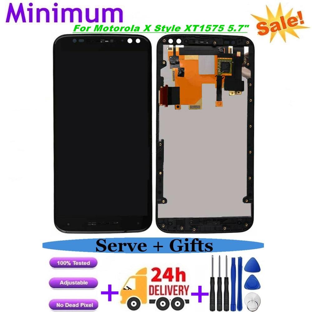 """Para Motorola Moto X Style XT1575 XT1572 5,7 """"LCD Display MONTAJE DE digitalizador con pantalla táctil con piezas de repuesto de Marco"""