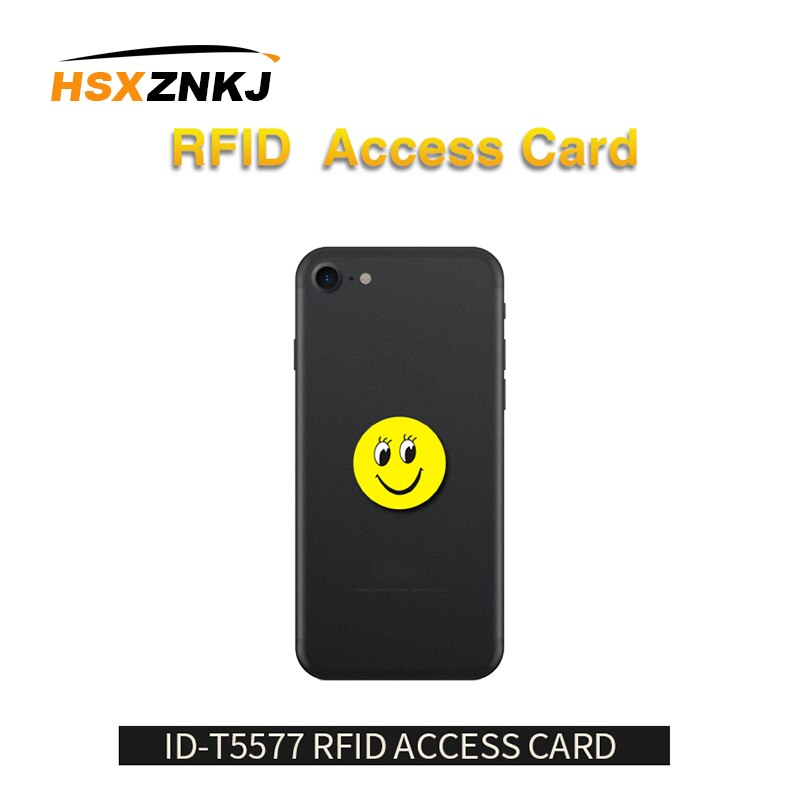 10 unids/lote RFID 125Khz T5577 grabable EM4305 etiquetas de dibujos animados Anti interferencia de Metal pegatinas tarjeta de proximidad etiqueta para copiadora RFID