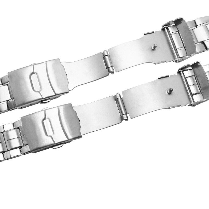 Watch Bracelet For Casio EF-524 EF-543 EF-550 EFR-539 Men Solid Stainless Steel Watch Strap Accessories Watch Watch Band Chain
