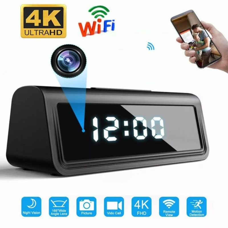 HDlivecam 4K واي فاي ساعة سرية كاميرا دقيقة Espia AP مسجل الأمن كاميرا الأشعة تحت الحمراء للرؤية الليلية كشف الحركة كاميرا دقيقة