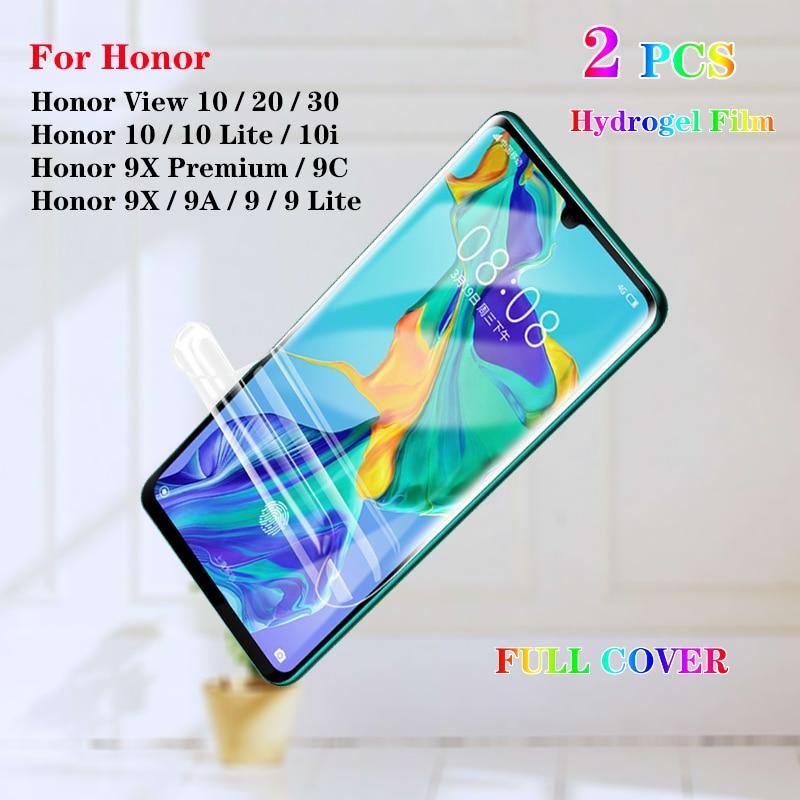 2 шт гидрогель защита для экрана для Huawei Honor 10 Lite 10i View 10 20 3 Pro 9 9A 9C 9X Премиум Мягкая защитная пленка не стекло