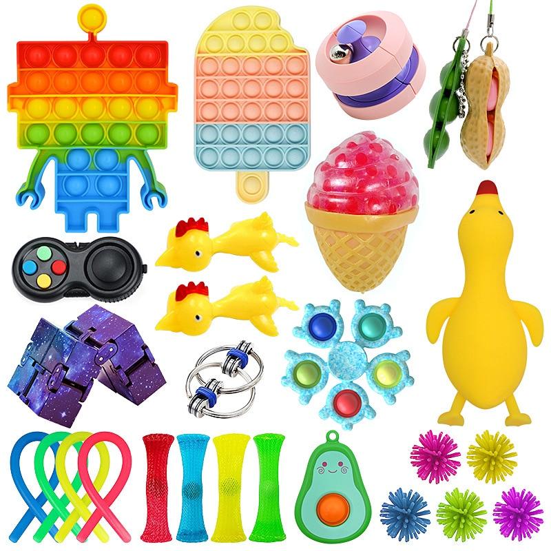 Игрушки-антистресс, набор эластичных струн, пузырьковый Подарочный пакет, игрушка антистресс, сжимаемая игрушка для снятия стресса, набор и...