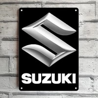 classic suzuki car symbol logo graphic tin sign poster home pubs bars poster wall art poster coffee garden office man cave