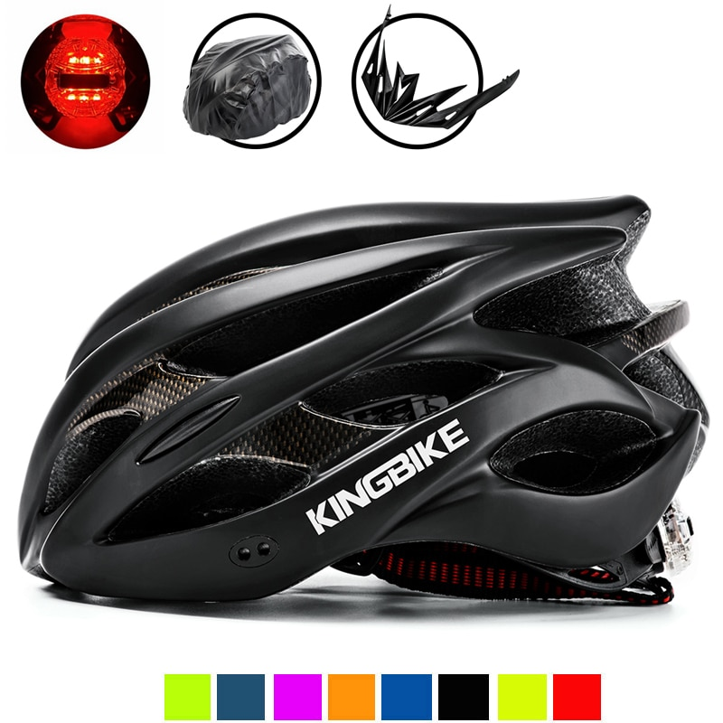 KINGBIKE черные велосипедные шлемы, женские и мужские велосипедные шлемы, MTB, горный, дорожный, безопасный, для спорта на открытом воздухе, Больш...