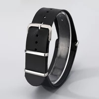 leather watchband 22mm brown black men genuine leather straps male pin buckle 12 holes wrist belt practical replacement strap