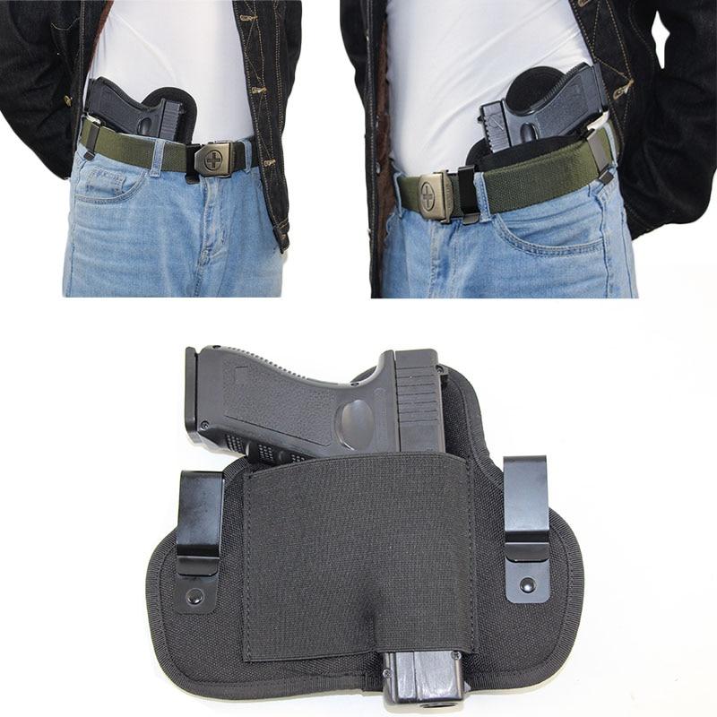 Funda táctica de faja para arma oculta de la mano derecha izquierda PARA LA Glock 17 19 bereta 92 Taurus Cz75 funda oculta de caza de pistola Airsoft