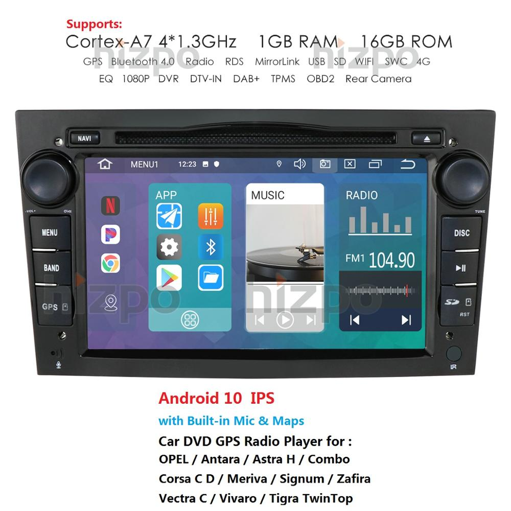 Автомагнитола для Opel Vauxhall Astra H G J Vectra Antara Zafira Corsa, стерео-система на Android 10, 7 дюймов, 2 DIN, с GPS Навигатором, BT, Wi-Fi, RDS, SWC