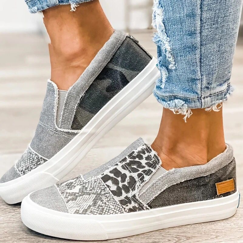 Casual Canvas Shoes Women Leopard Print Fashion Women Vulcanized Shoes Color Matching Is Light Shoes for Women Sneakers Vans