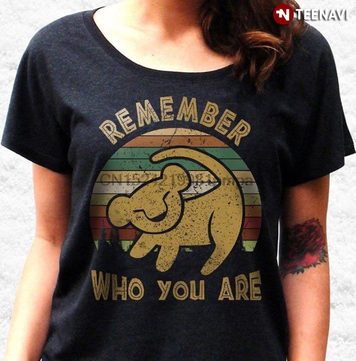 Men T Shirt Lion King Simba RemLion King Simba Remember Who You Are Vintage (New Version)ember Who You Are Vintage Women tshirts