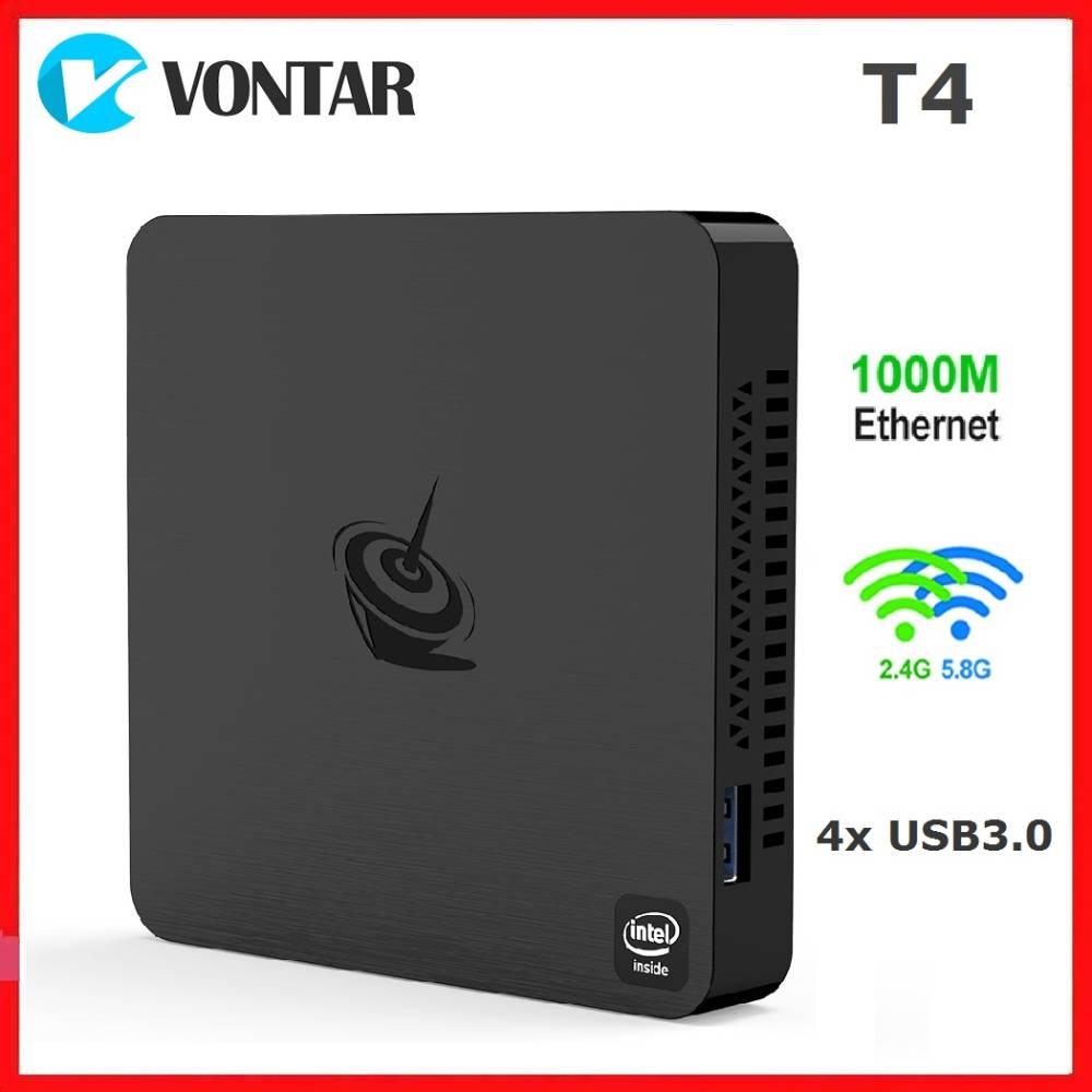 Beelink T4 Mini PC Intel Atom X5 Z8500 Quad Core Windows 10 4K HTPC with 4GB RAM 64GB ROM Dual Wifi BT4.0 1000M LAN USB3.0 HD Mi