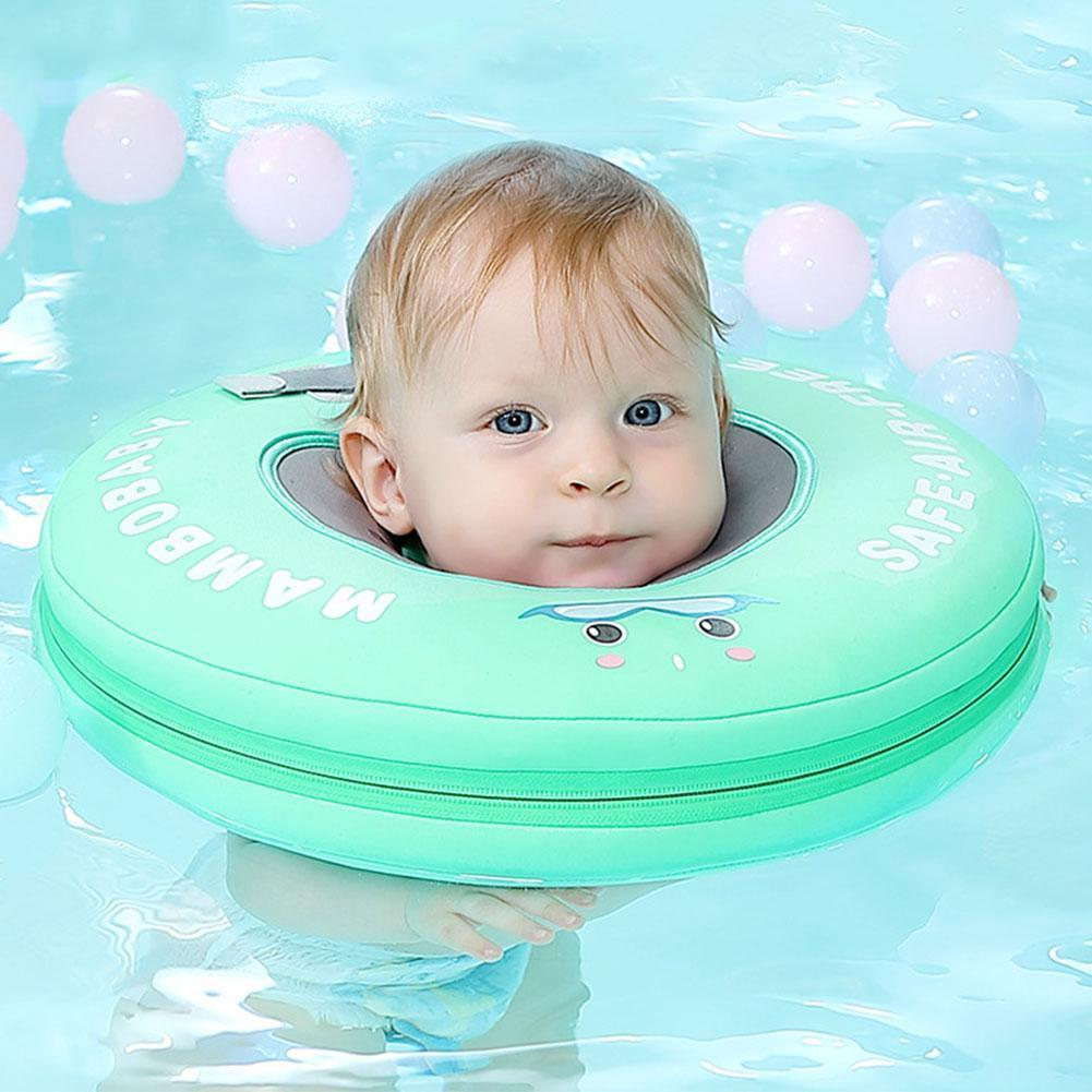 2017 new high quality safety baby need not inflatable floating ring round the neck round floating ring toy baby swimming pool Infant Free Inflatable Safety Collar Baby Swimming Ring Bath Tube Ring Swimming Neck Floating Home Swimming Pool Dedicated